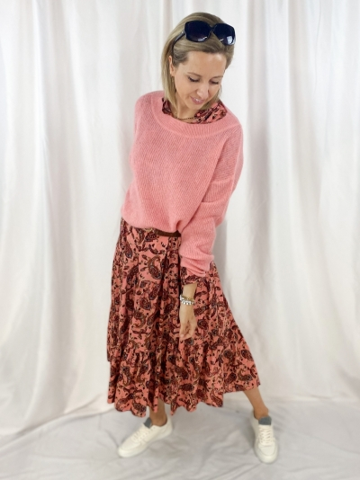 Short pull white Brick Pink