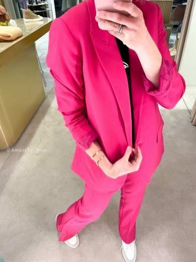 Woven Oversized Stretch Shocking pink