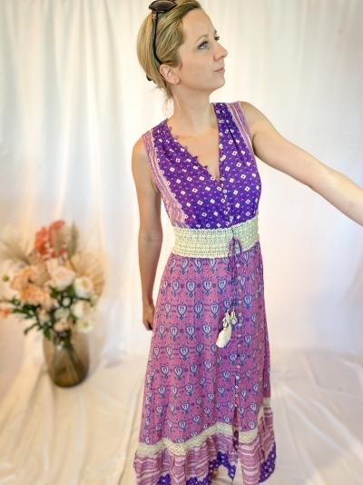 Bohemien purple dress paars