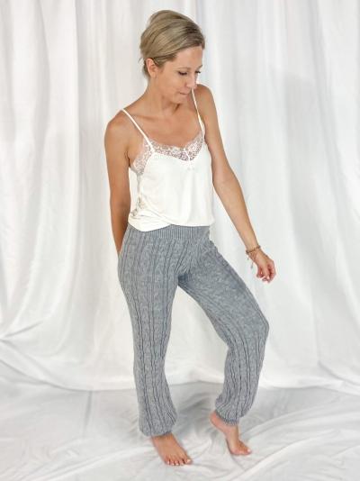 Cosy Knit pants grijs