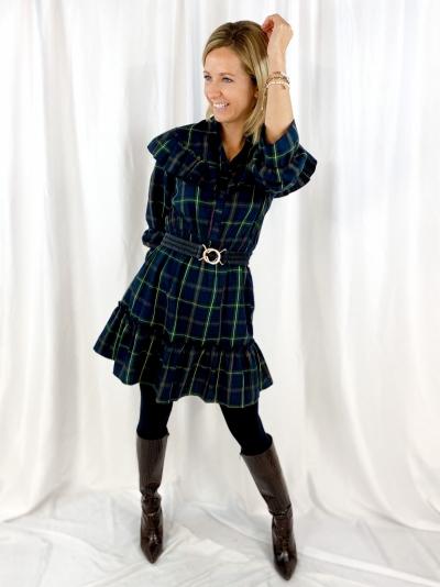 Scotch dress groen