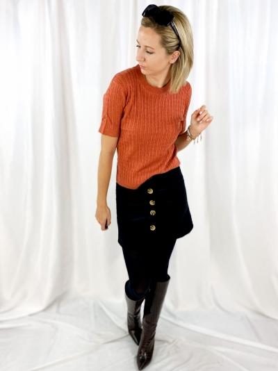 velours skirt zwart