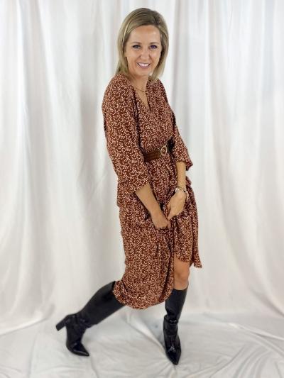 Kaila dress rust