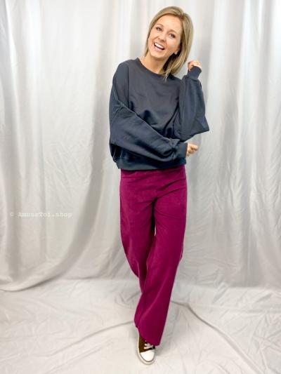 Oversized sweater donker grijs