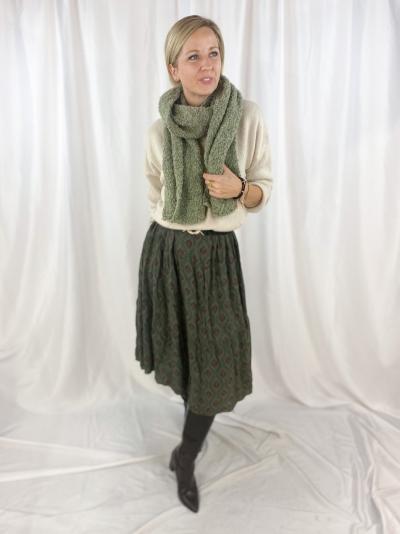 Boat neck knit Cool beige