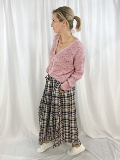 Cosy gilet soft pink
