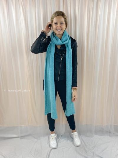 Melée scarf Aqua logo