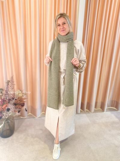 Melée scarf Salvia logo