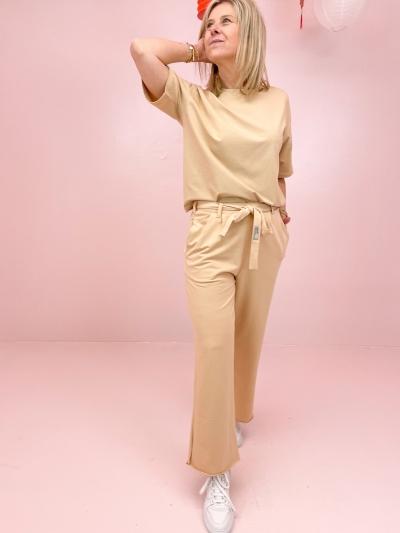 Zoe t-shirt beige