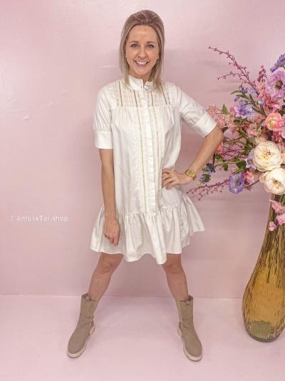 Vittoria dress popeline ecru