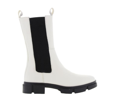 Chelsea boot Bone white logo
