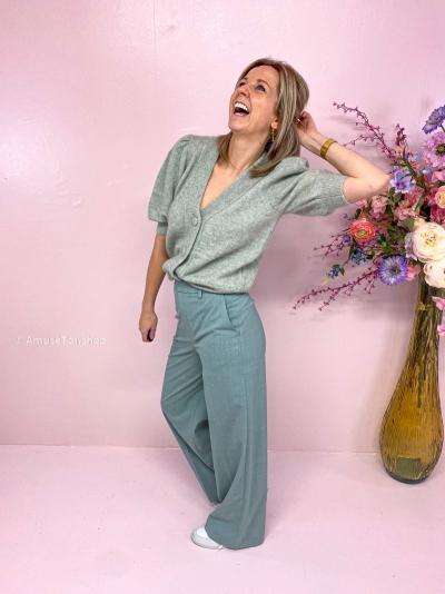 Debbie puff cardigan sky grey