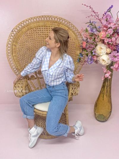 Gijoen blouse vichy blue