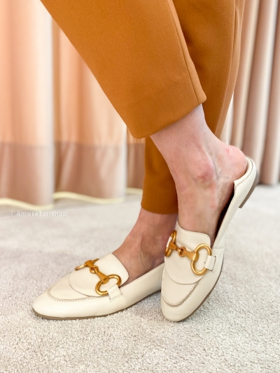 Moccasin light pink off white