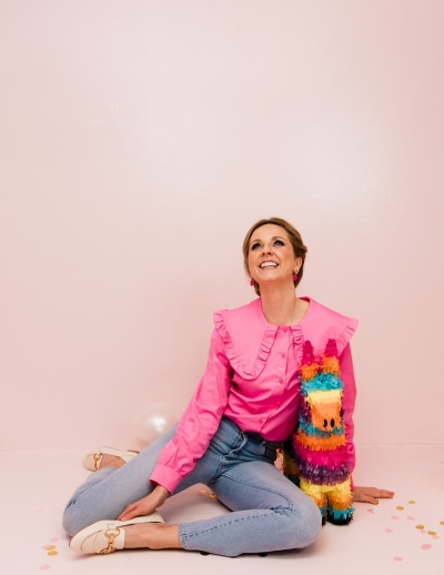 Demi blouse Hot pink