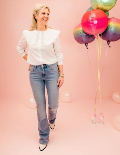 Demi blouse Pure white