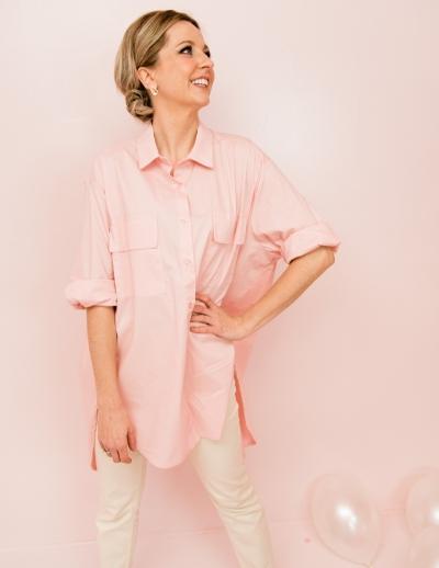Men blouse Sweet pink