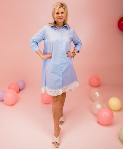 Romantic shirtdress Classy blue