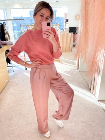 Silk pants rose Rose