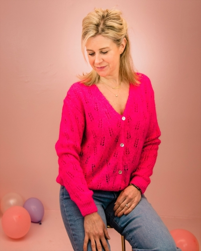Dolce cardigan pink