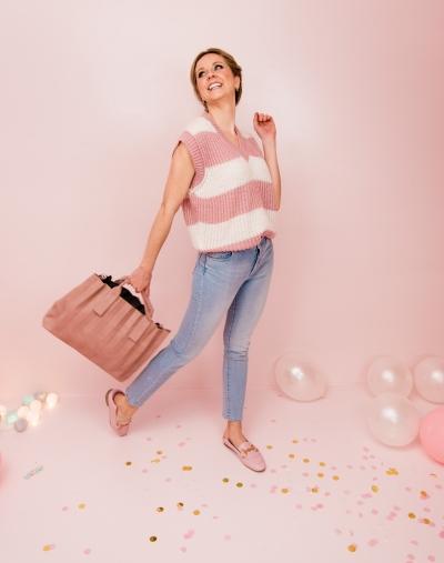 Stripe debardeur pink