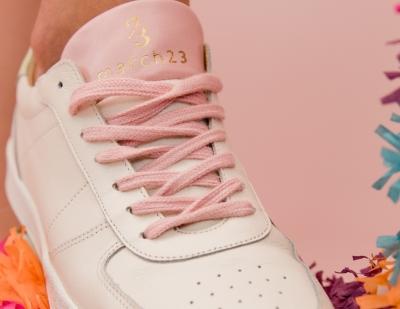 Jade sneaker off white/rose-