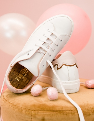 Vegan sneakers white/pink
