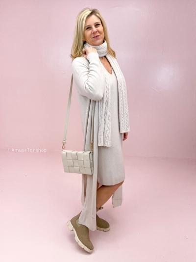 Woven bag bone white