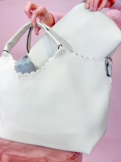 Giu Shopbag bone white