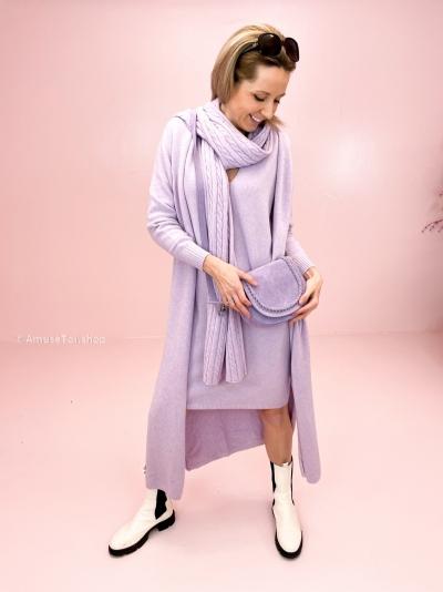 Giu scarf kable lila