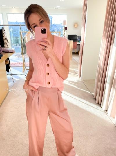 Debardeur cardigan pink