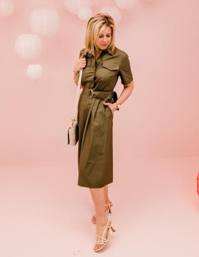 Safari dress vert