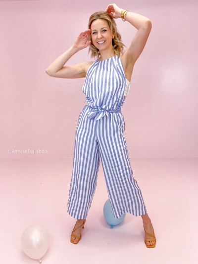June jumpsuit blue