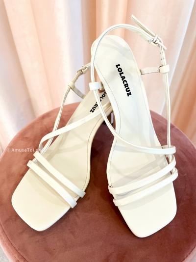 Off white heels logo