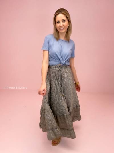Poetry skirt dove