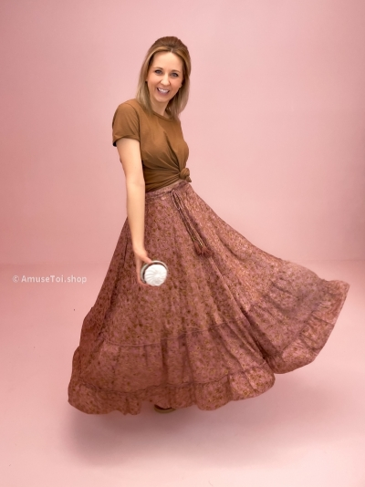 Poetry skirt rose