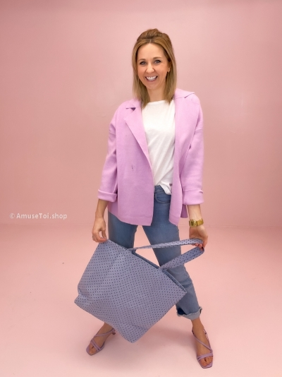 Dots shopper sky blue