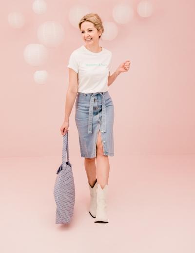 Bora skirt blauw