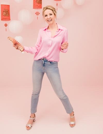 Satin blouse  rose