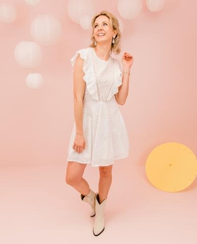 Nomade dress blanc