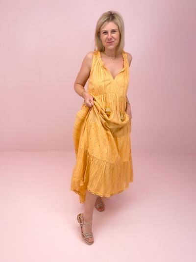 Ibiza dress geel
