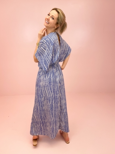 Jade dress Blue stripes