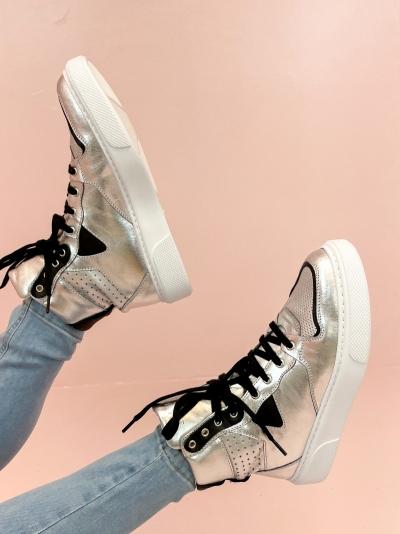 Vana high sneaker silver