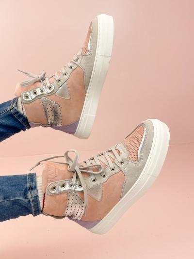 Vana high sneaker pink/purple/gre