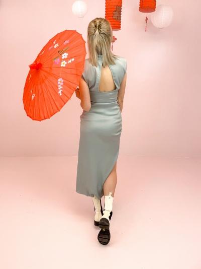 Sunna long dress slate grey