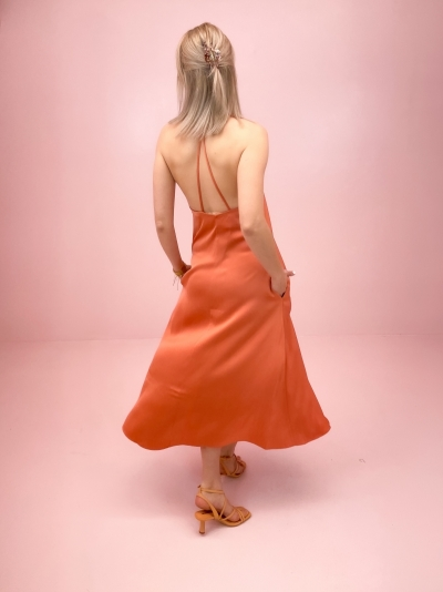 Cille dress apricot brandy
