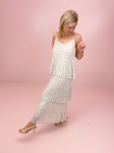 Tatiana dress Clematis dot