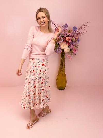 Alsop Skirt pink garden