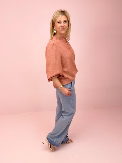 Solstice blouse Cedar Print