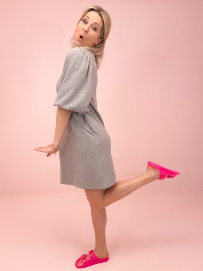 Jess dress grey melange